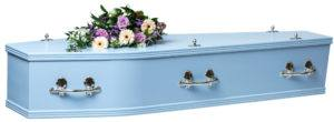 Adult MDF coffin Blue