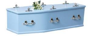 Juvenile MDF Coffin Blue