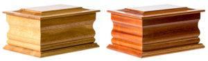 Welland Oak and Welland sapele Ash Caskets